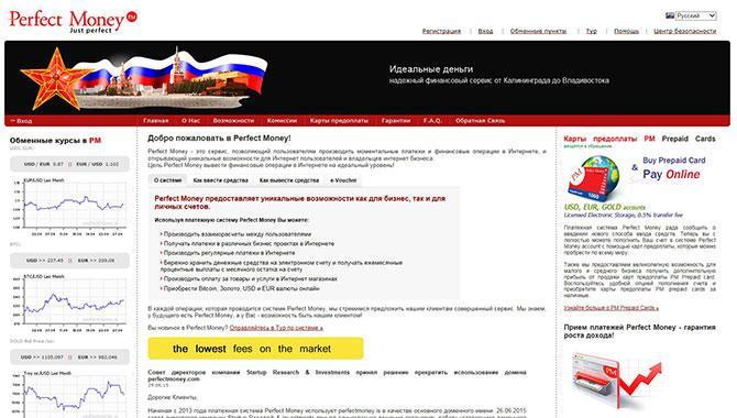 Обзор платежной системы Perfect Money: регистрация и отзывы